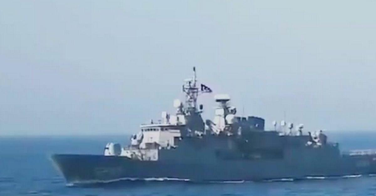 """Αποχωρεί το τουρκικό σκάφος που συγκρούστηκε με την φρεγάτα """"Λήμνος"""""""