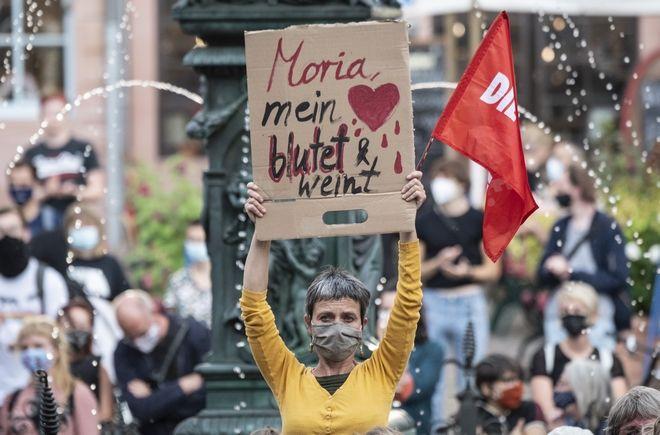 Διαδηλώσεις στη γερμανία για τη Μόρια.